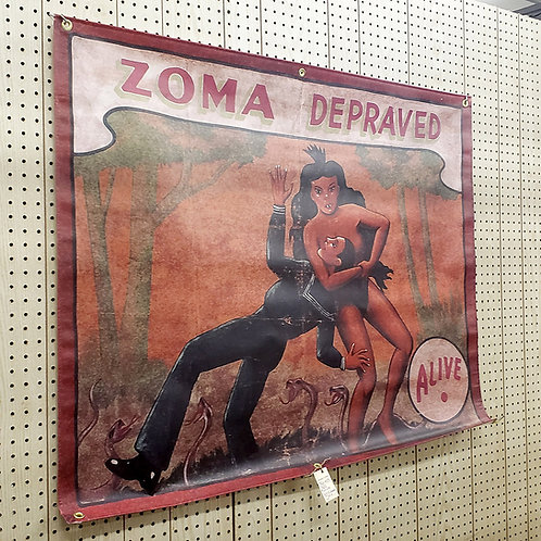 Zoma the Depraved Sideshow Banner