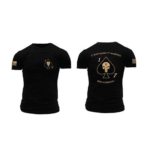 Dog Co. 1/7 Short Sleeve T-Shirt - Black Shirt Tan Ink