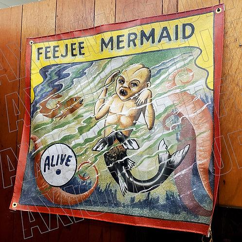 Feejee Mermaid Sideshow Banner