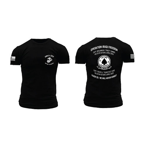 Memorial HMLA-267 Short Sleeve T-Shirt - Black Shirt