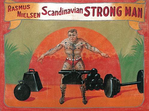 Scandanavian Strongman Sideshow Banner