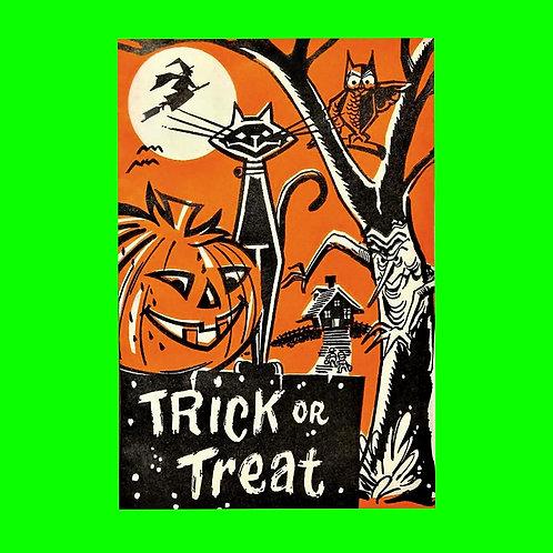 Halloween Banner - Trick or Treat Pumpkin