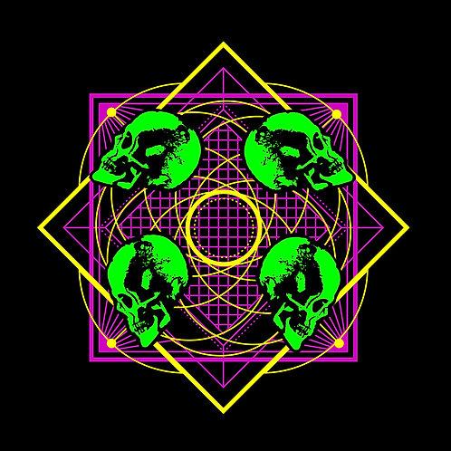 4 Skull Geometry T-Shirt