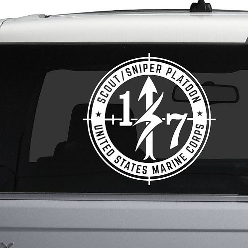 """10"""" 1/7 Scout Snipers Glass Decal"""