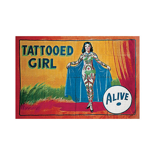 Tattooed Girl Sideshow Banner