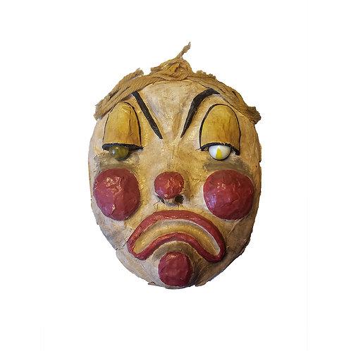 Vintage Clown Paper Mache Face