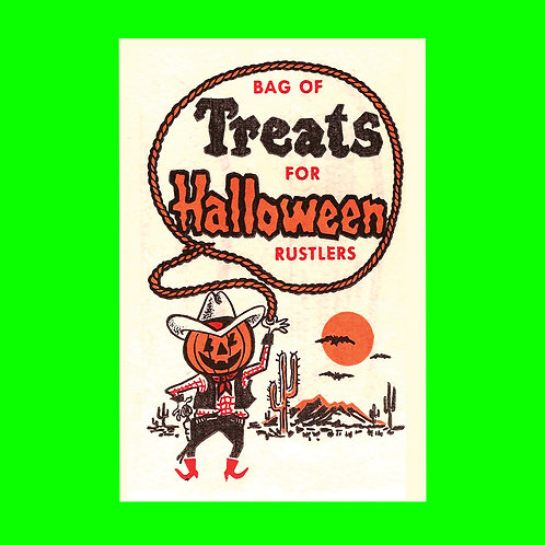 Halloween Banner - Treats for Halloween Bag