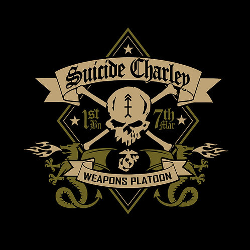 Suicide Weapons Platoon T-Shirt - Black, Tan and OD
