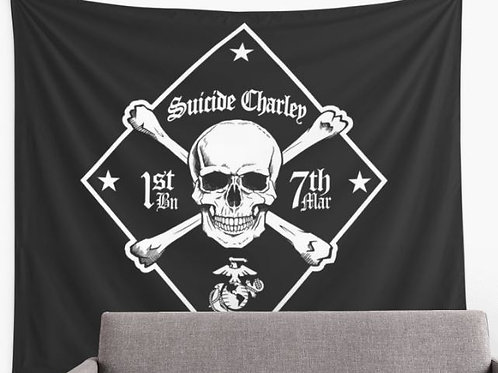 Large Black Wall Tapestry