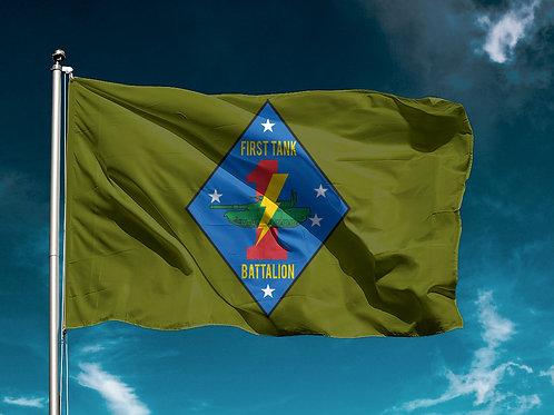 1st Tank Battalion Flag