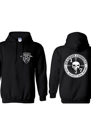Weapons Co. Black Hoodie - White Print