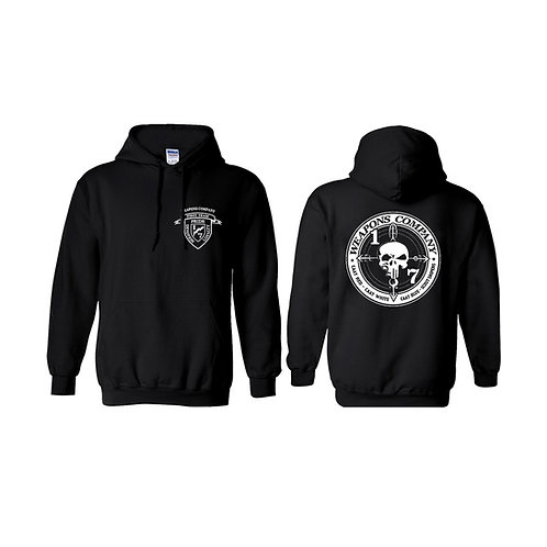 Weapons Co. Black Hoodie - White Print