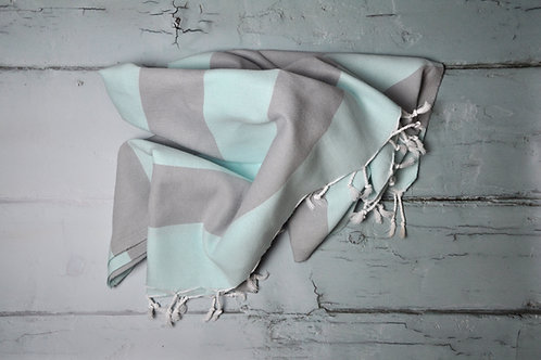 Marmaris Mint & Grey Towel