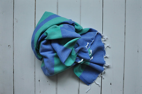 Marmaris Jade and Royal Blue Towel