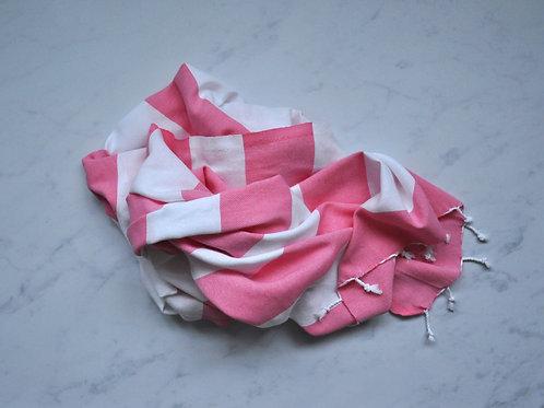 Marmaris Pink & White Towel