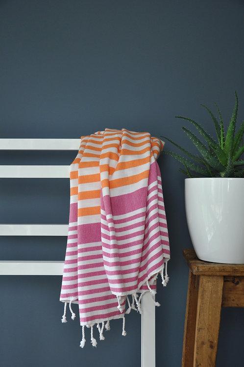 Bodrum Orange & Cerise Towel