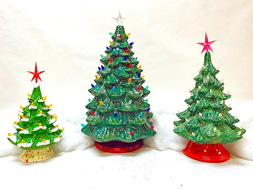 Ceramic Christmas Trees to Paint at Home