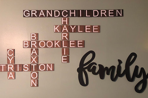 Scrabble Letter Tiles, Wall Art