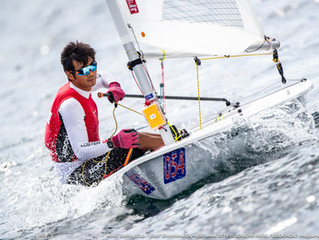 Laser's Nanri and 470's Okada/Hokazono are top of leader board