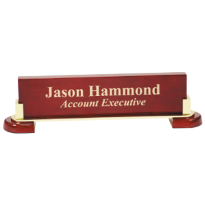 Rosewood Piano Finsh and Metal Name Bar