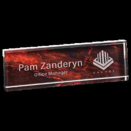 Colored Acrylic Name Bars