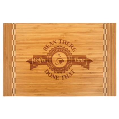 Bamboo Cutting Board W/ Butcher Block Inlay