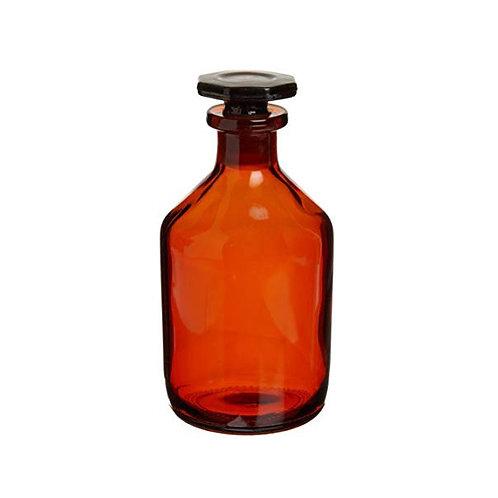 Amber Bottle Tooled Neck