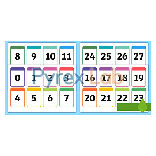 Numbers Flash Cards 1-20