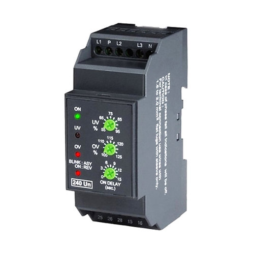Under And Over Voltage Relay Setup