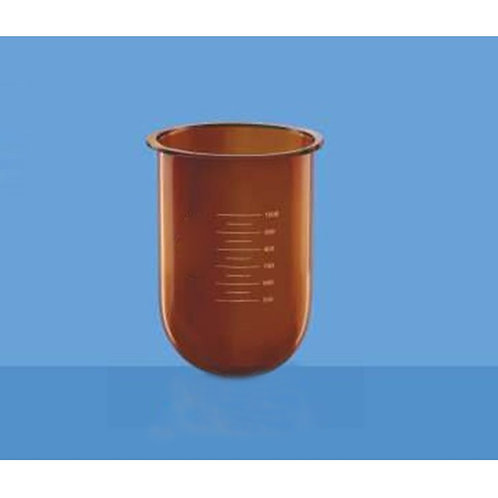 Flasks-E Amber, Without Side Cut for Dissolution Apparatus