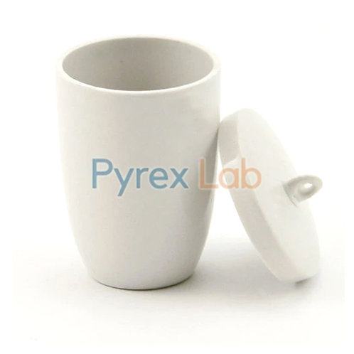 Crucible With Lid Porcelain High Tall