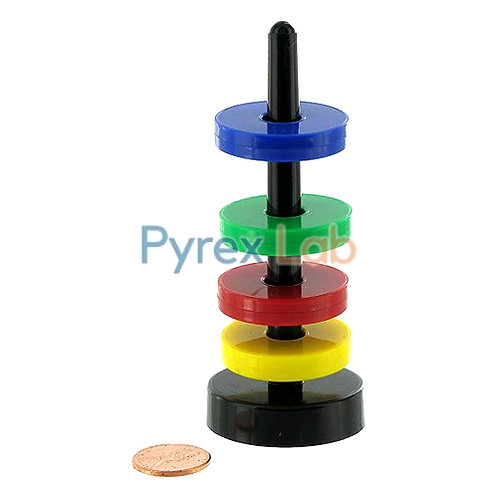 4 Floating Magnetic Rings With Stand