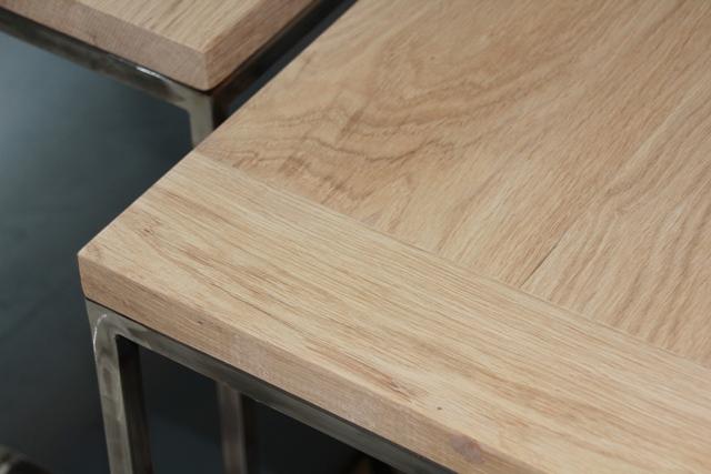 Table acier jumelle