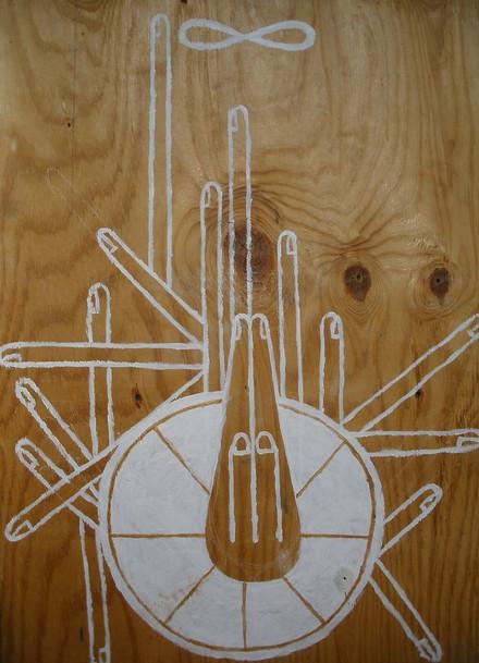 """Prayer #2"" Acrylic on wood 24 x 36 in."