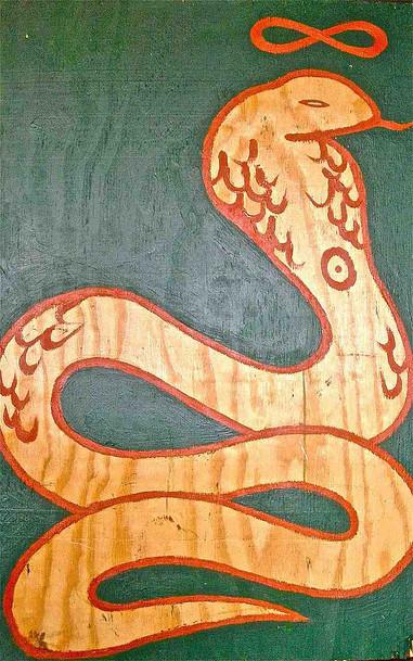 """Immortal"" Acrylic on wood 23 x 36 in."