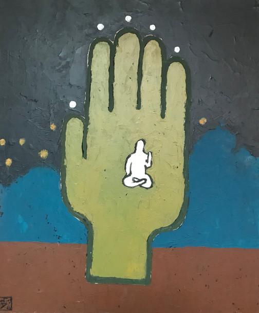 """Meditation"" Acrylic on canvas 24 x 28 in."