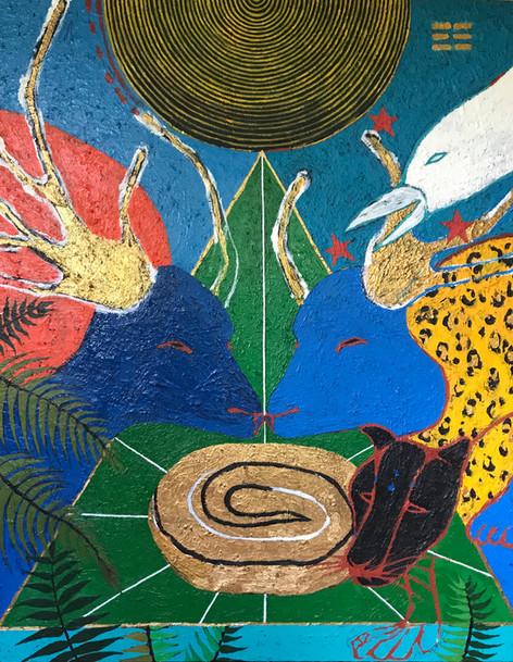 """Earth"" Acrylic on canvas 44 x 55 in."