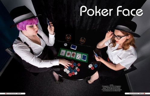 Poker face! Published: Kulture magazine Photographer: Tony Smith Models: A Savage and Velvet Fox