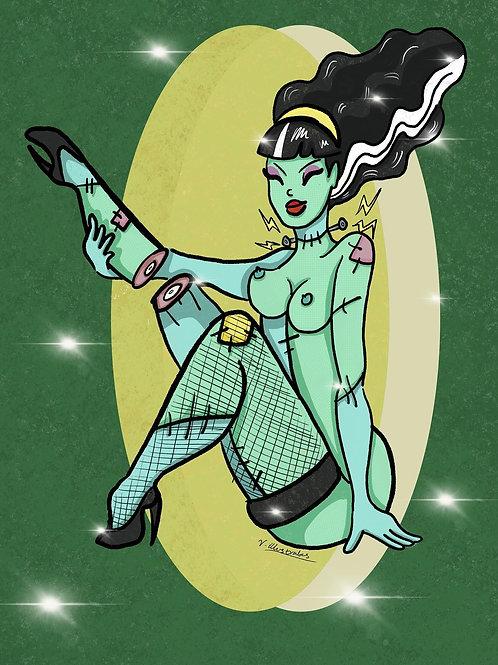 'Franken-mistress' art print