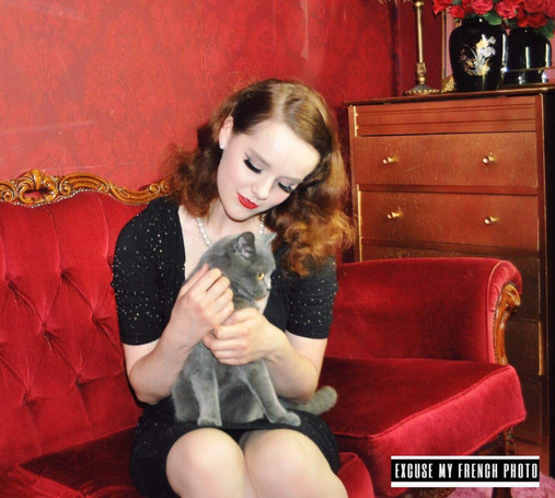 Photographer: Excuse my French photography Studio: Excuse my French boudior Models: Miss Cilla (my gorgeous cat) and Velvet Fox