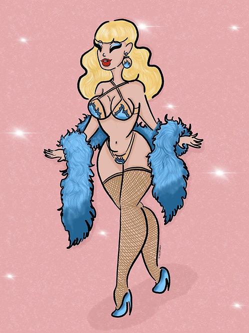 'The Showgirl' art print