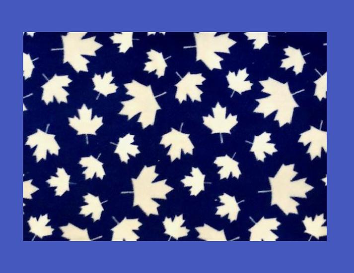 Blue Maple Leaf Knotted Dog Blanket