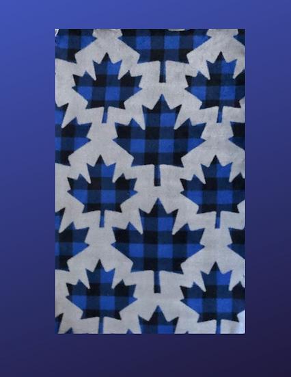 Grey Maple Leaf Knotted Dog Blanket