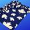 Thumbnail: Blue Maple Leaf Knotted Dog Blanket