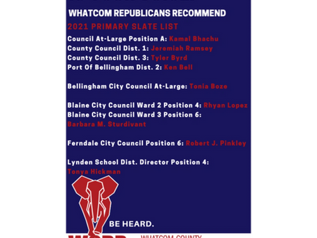 Your Whatcom GOP Recommended Candidates Slate Cards Are Here.