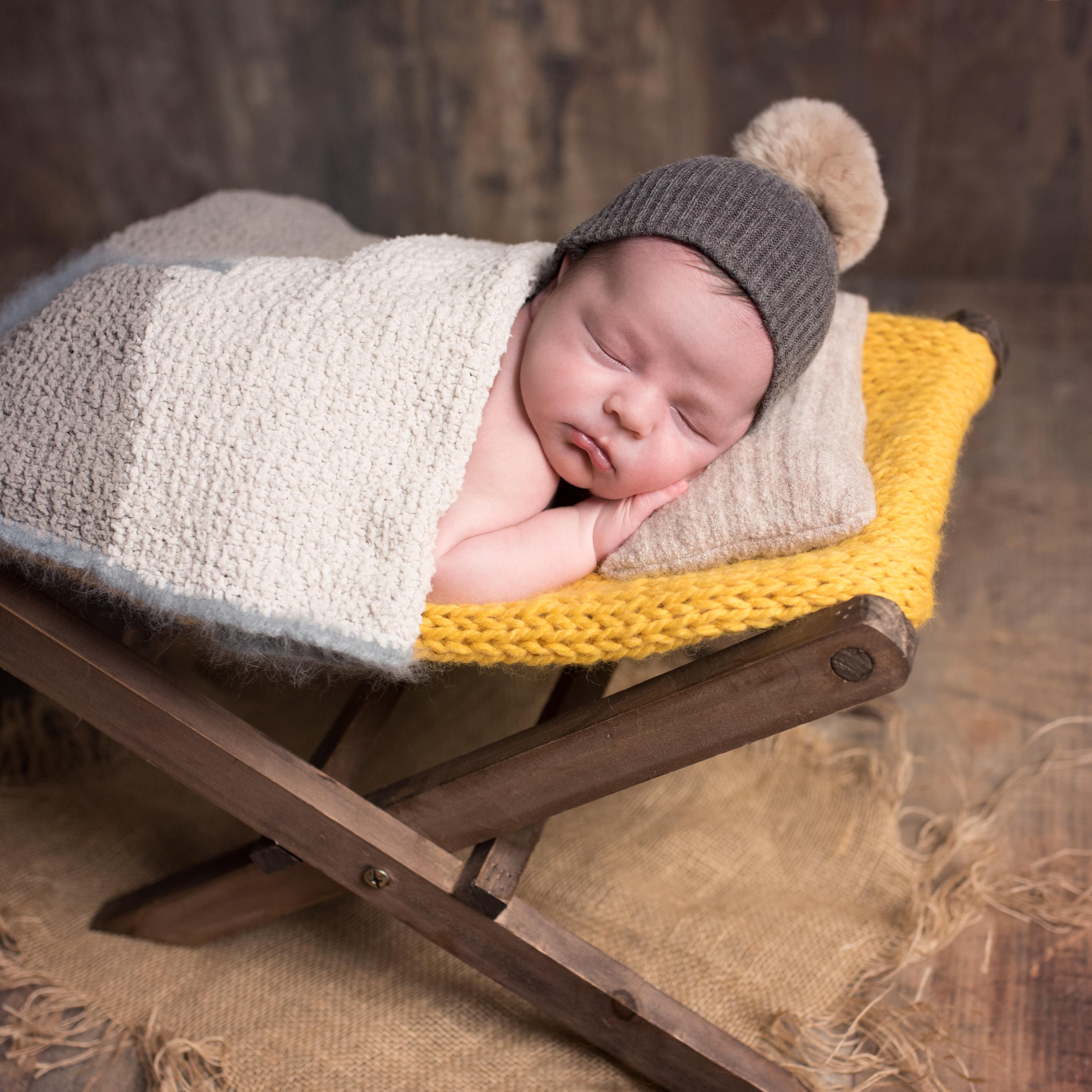 Bébé transat hiver