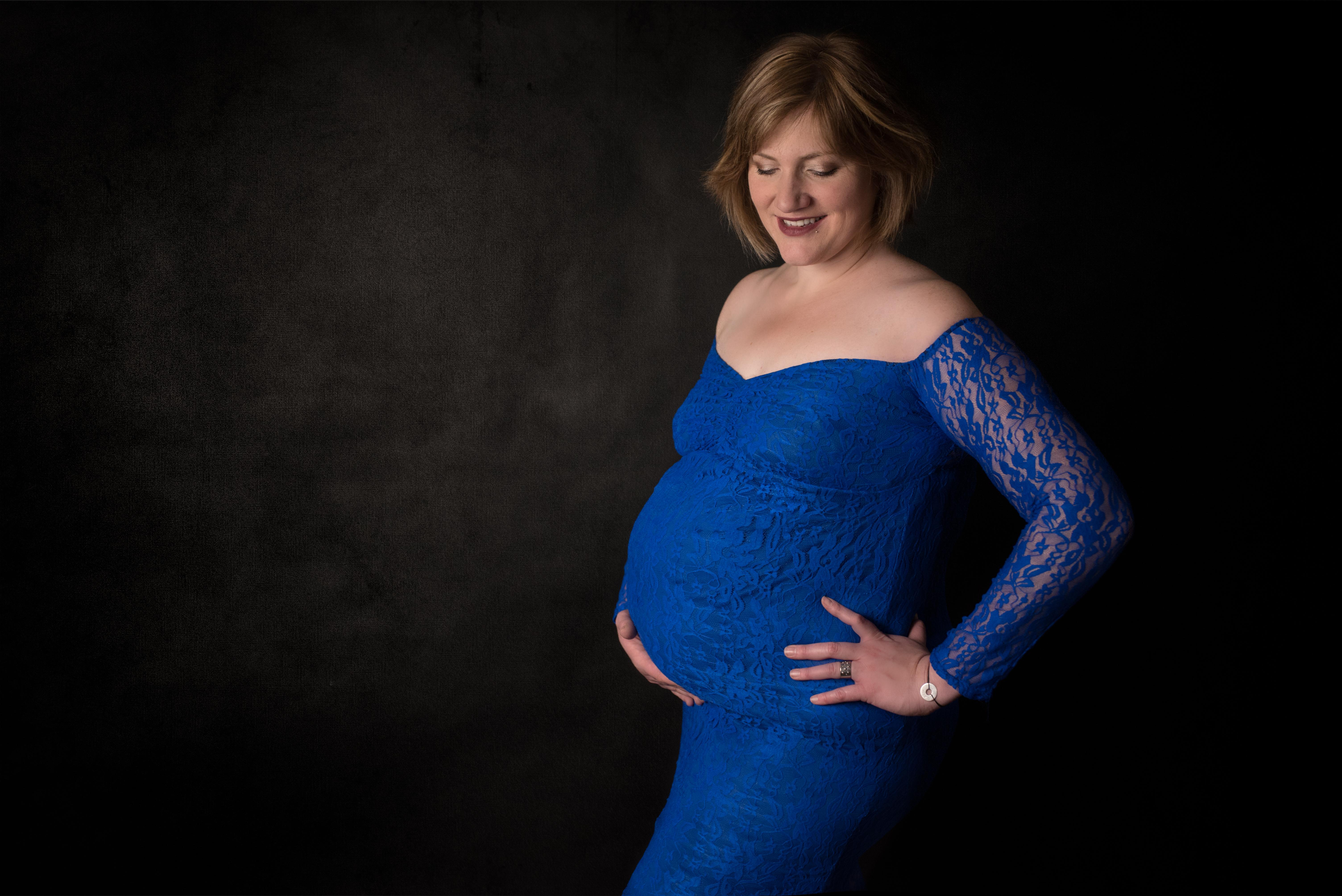 GROSSESSE robe bleue
