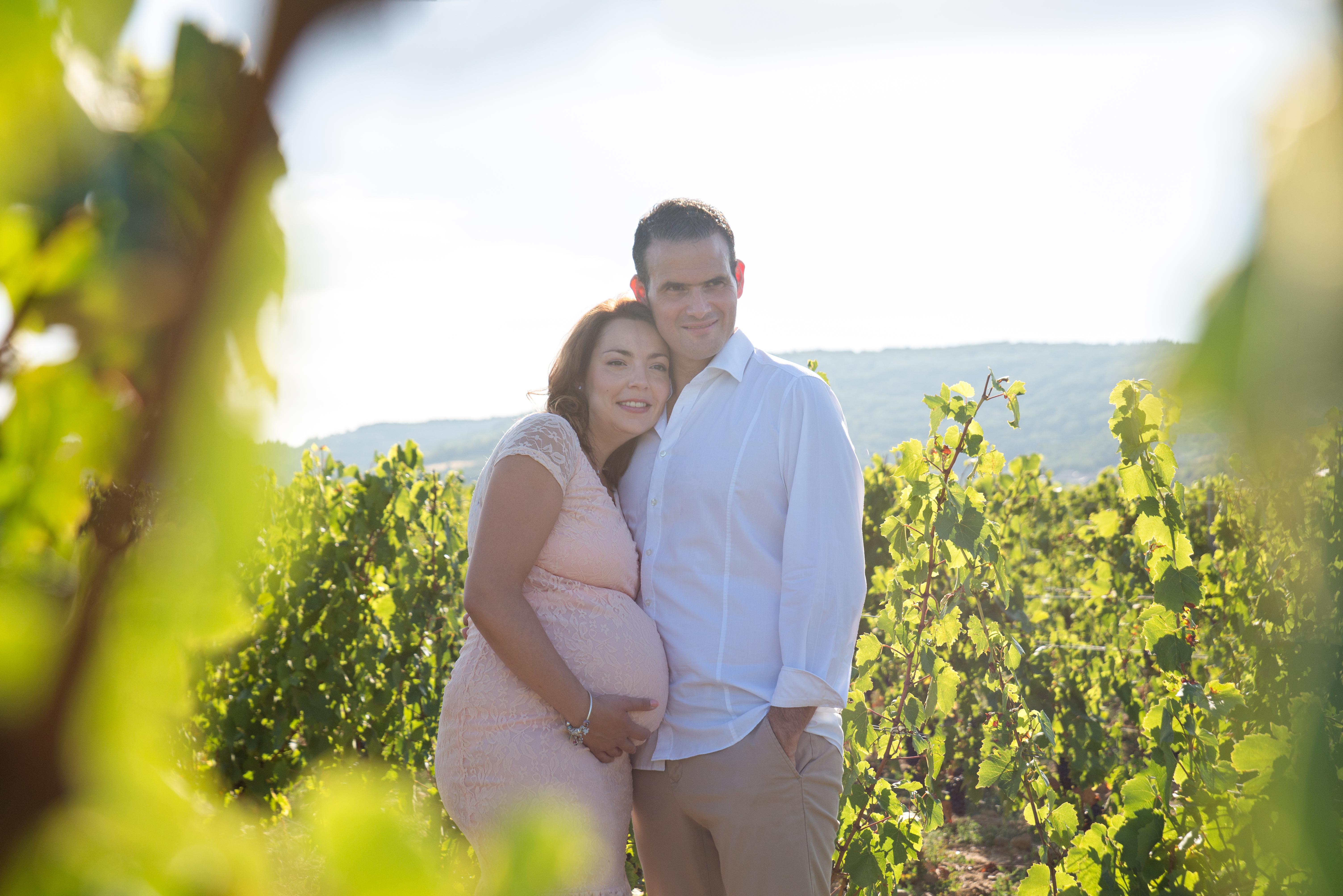 séance photo dans les vignes