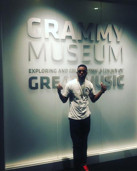 T.O.N.E hits L.A for the VMA's and to Visit the Grammy Museum