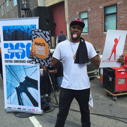 T.O.N.E Stops by The Source360 Block Party in Brooklyn NY